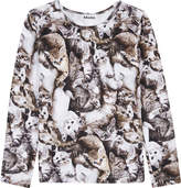 Molo Cat print long-sleeved top 4-14 years