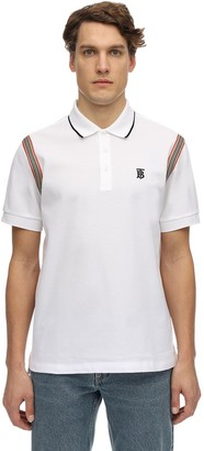 Burberry Cotton Pique Polo W/ Heritage Stripes