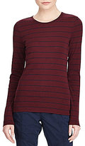 Lauren Ralph Lauren Striped Long-Sleeve Cotton T-Shirt