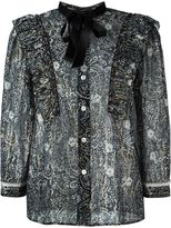 Marc Jacobs printed sheer shirt - women - Silk/Cotton/Lurex - 6