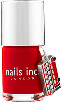 Nails Inc St James Nail Polish with London Bus Charm, Bright Red