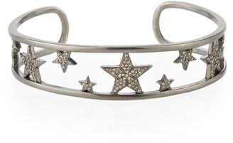 Siena Jewelry Pave Diamond Star Cuff Bracelet