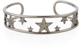 Siena Jewelry Pave Diamond Star Cuff Bracelet