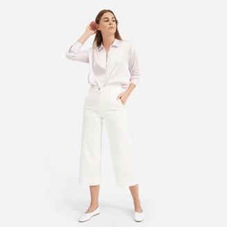 Everlane The Clean Silk Charmeuse Oversized Shirt