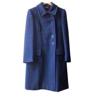 Miu Miu Blue Wool Coats