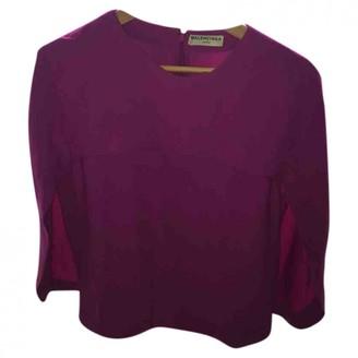 Balenciaga Purple Silk Top for Women