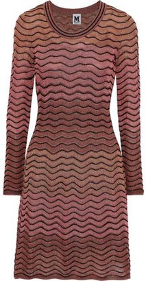 M Missoni Metallic Ombre Crochet-knit Dress