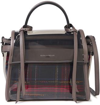 Elena Ghisellini Angel Ghost Leather-trimmed Pvc Shoulder Bag