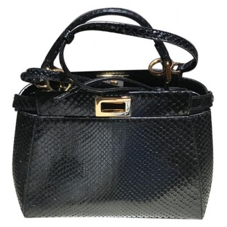 Fendi Peekaboo Black Python Handbags