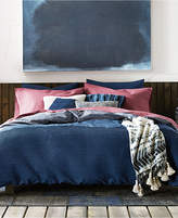 Tommy Hilfiger Tommy  Blues Vintage Pleated Reversible 3-Pc. Cotton King Duvet Cover Set Bedding