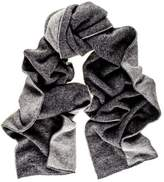 Black Two Tone Grey Double Faced Cashmere Scarf