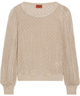 Missoni Metallic Crochet-knit Sweater - Bronze