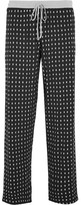 DKNY Printed Stretch-modal Jersey Pajama Pants - Black