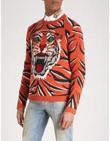 Gucci Tiger Knitted Wool Jumper