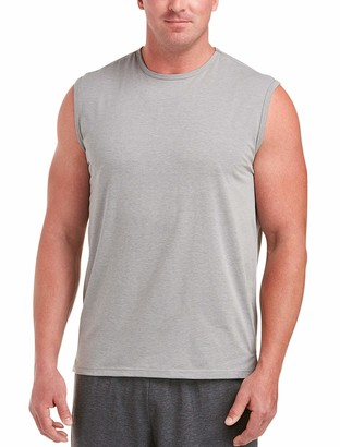 Amazon Essentials Men's Big & Tall Performance Cotton Muscle Tank fit by DXL
