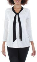 Everly Grey Women's 'Kitty' Tie Neck Maternity Top