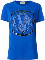 Versace baroque logo T-shirt - women - Cotton - XS