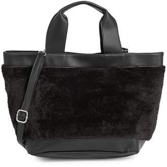 Design Lab Faux Fur-Trim Crossbody Bag