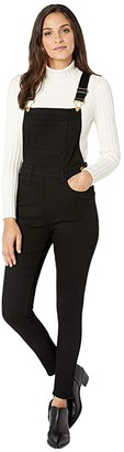 WeWoreWhat High-Rise Skinny Overalls (Black) Women's Jumpsuit & Rompers One Piece
