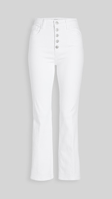 J Brand Lillie High Rise Crop Flare Jeans