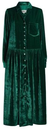 MM6 MAISON MARGIELA Velvet Button-Down Midi Dress