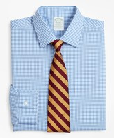 Brooks Brothers Stretch Milano Slim-Fit Dress Shirt, Non-Iron Poplin Ainsley Collar Gingham