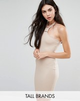 Missguided Tall Neck Detail Ribbed Bodycon Dress