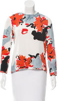 Michael Van Der Ham Silk Watercolor Print Top