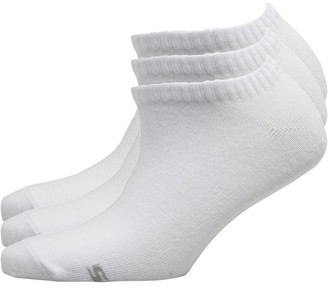 Skechers Womens Three Pack Basic Sneaker Socks White