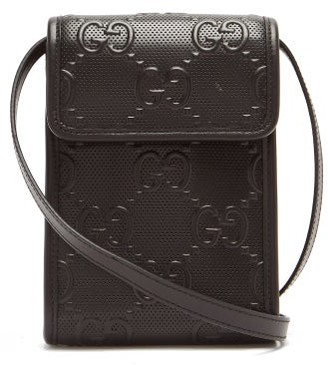 Gucci GG-logo Quilted Leather Cross-body Bag - Black