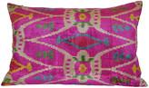 Orientalist Home Livia Ikat 16x24 Pillow - Pink pink/multi