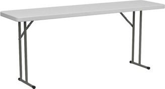 "Flash Furniture Rectangular Folding Table Size: 29"" H x 72"" L x 18"" W"