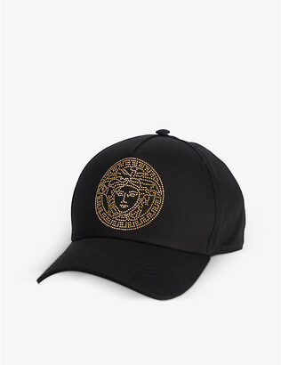 Versace Medusa bead-embellished cotton cap
