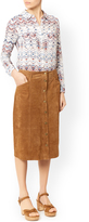 Monsoon Solange Suede Skirt