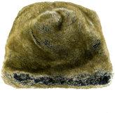 Faliero Sarti furry flat cap