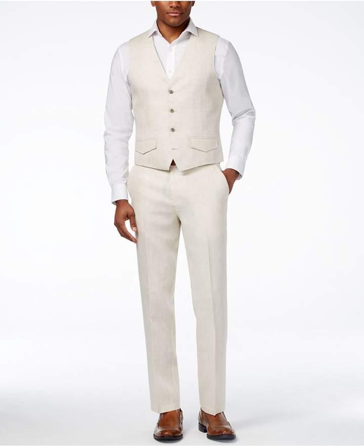 Tasso Elba Men's 100% Linen Vest, Created for Macy's