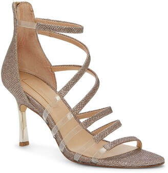 Imagine by Vince Camuto Roselle Metallic & Clear Strap Sandal