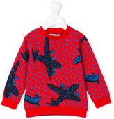 Stella McCartney Biz aeroplanes sweatshirt - kids - Cotton - 6 yrs