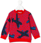 Stella McCartney Biz aeroplanes sweatshirt - kids - Cotton - 8 yrs