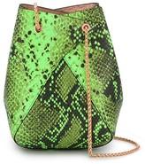 THE VOLON embossed snakeskin shoulder bag