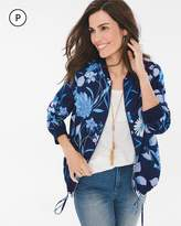 Chico's Petite Floral Bomber Jacket