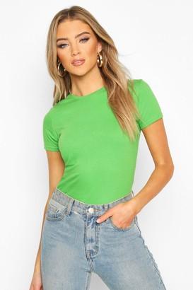 boohoo 100% Cotton Crew Neck T-Shirt