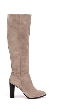 Mint Velvet Faith Taupe Suede Knee Boots