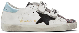 Golden Goose White Glitter Old School Sneakers