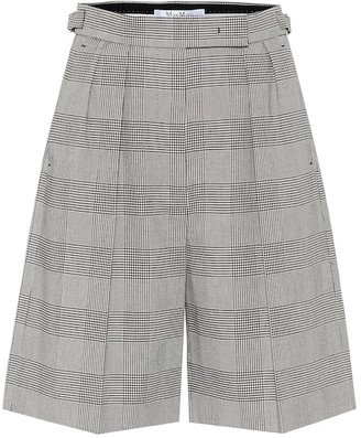 Max Mara Limone checked cotton shorts