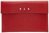 Alexander McQueen Red Skull Studs Envelope Pouch