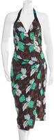 Proenza Schouler Floral Print Halter Dress