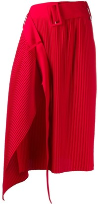 Rokh Pleated Asymmetric Skirt