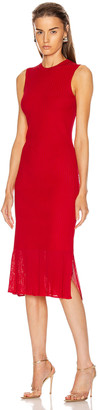 Victoria Beckham Sleeveless Fitted Dress in Bright Red | FWRD