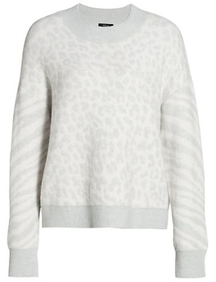 Rails Lana Leopard & Zebra Wool & Cashmere-Blend Sweater